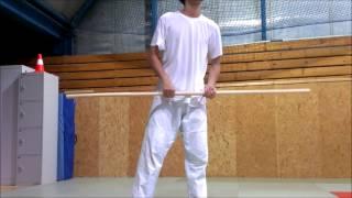 Bo Staff Spinning Tutorial 1 - Back Spin Combo