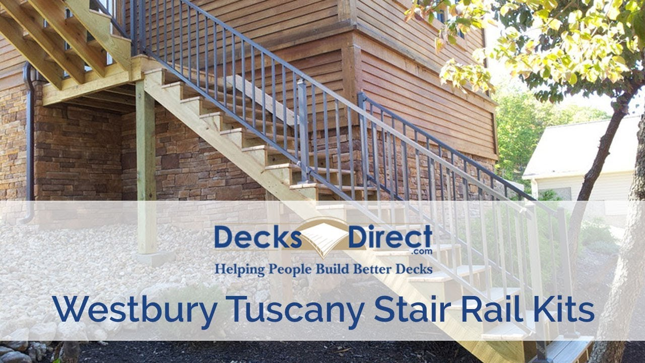 Tuscany Stair Rail Section Kits By Westbury Aluminum Railing Youtube   Peak Aluminum Stair Railing   Glass Panels   Stair Post   Railing Deck   Balcony Railing   Outdoor Stair