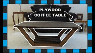 How to build a coffee table out of plywood! In this video I will show you how to build a coffee table out of plywood and a few oak