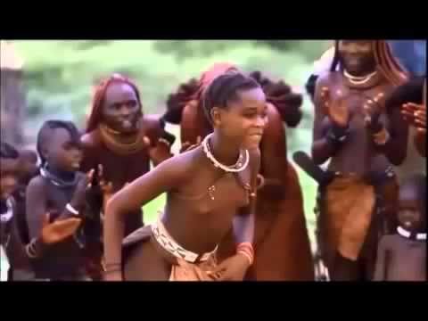 Hidden himba tribe at african Red skin woman