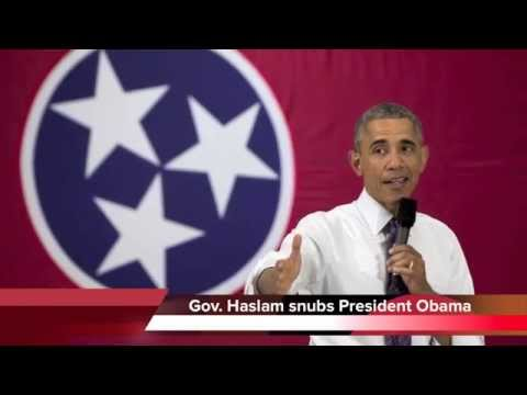 Tennessee Governor Bill Haslam snubs President Obama again
