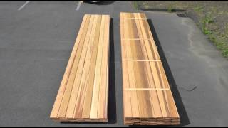 Unpacking Western Red Cedar Select No.2 Clear & Better Cladding