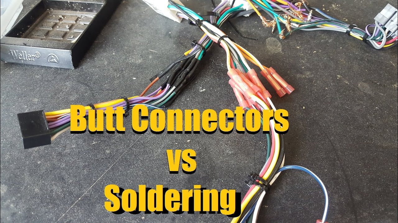 maxresdefault butt connectors vs solder crimping vs soldering wire how to solder wiring harness at creativeand.co