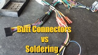 Butt Connectors vs Solder | Crimping vs Soldering | Wire Connections | AnthonyJ350