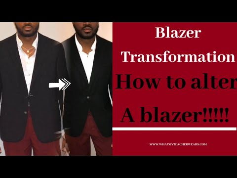How to alter a blazer!!! SUPER EASY!!! STEP by STEP!!