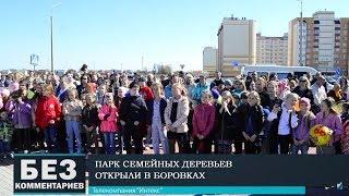 Без комментариев. 23.04.19. Новый парк открыли в Боровках.