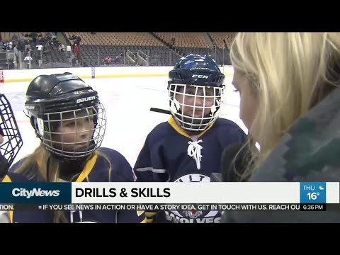 Young hockey players train like the Leafs at Drills & Skills event