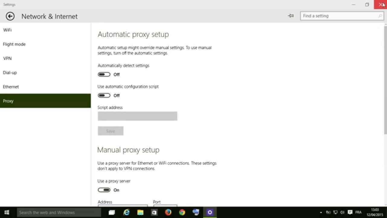 windows update proxy windows 10