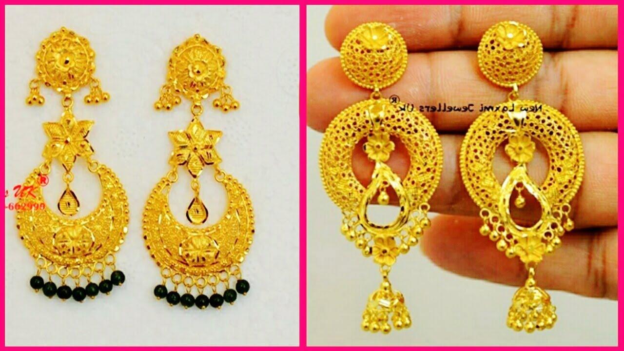 Excellent 22k Chandbali Earrings 2018   Latest Jewellery Designs ...