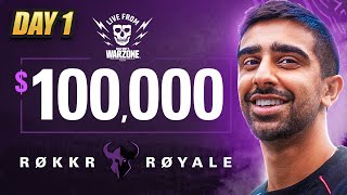 🔴 $100,000 WARZONE TOURNAMENT (ROKKR ROYALE)