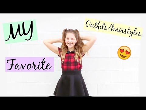 My Favorite Hairstyles & Outfits | How to curl your hair