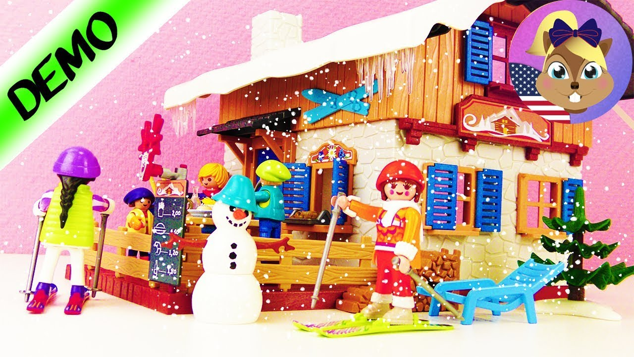 playmobil ski lodge 9280 assembling new wintersport world with skiing and snowman - Playmobil Ski