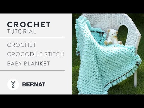Youtube Crocheting A Blanket : Crochet Crocodile Stitch Baby Blanket - YouTube