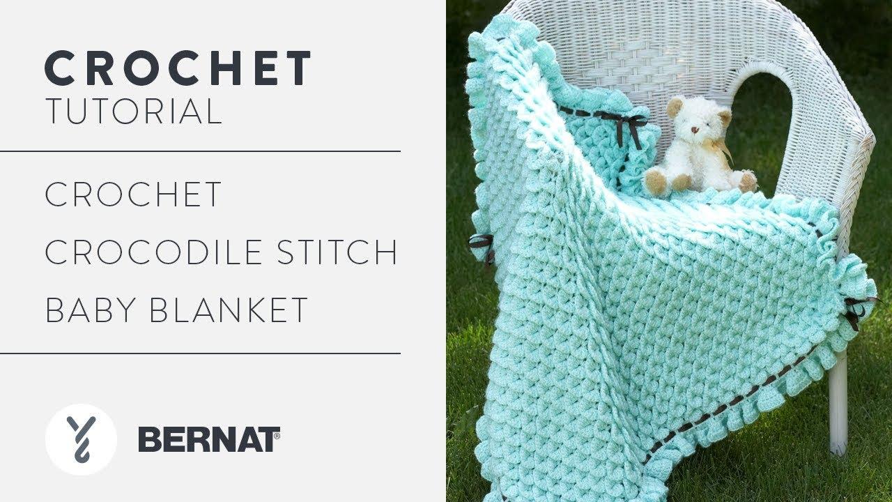 Crochet Crocodile Stitch Baby Blanket - YouTube