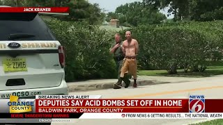 Acid bombs set off at Baldwin Park home, deputies say