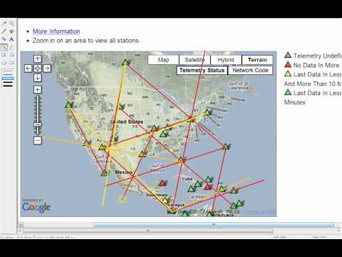 8/21/12 USGS GSN Seismic Sensors form Grid