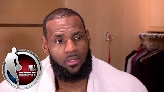 LeBron asked about Tyronn Lue's job security after big loss to Thunder | ESPN