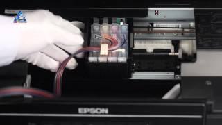 Установка СНПЧ на МФУ Epson Expression Home XP-207