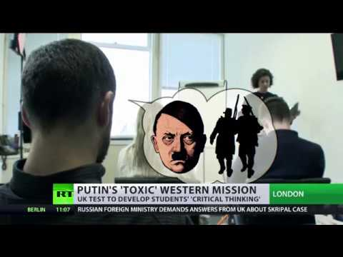 UK test to develop students' critical thinking focuses on Putin's 'toxic' Western mission