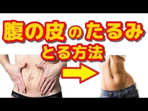 【ダイエット・美容】腹の皮のたるみをとる方法