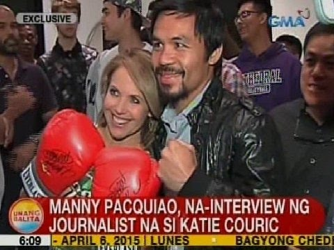 UB: Pacquiao, in-interview ng journalist na si Katie Couric