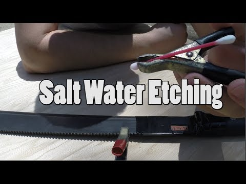 Saltwater Etching (how to do it yourself)