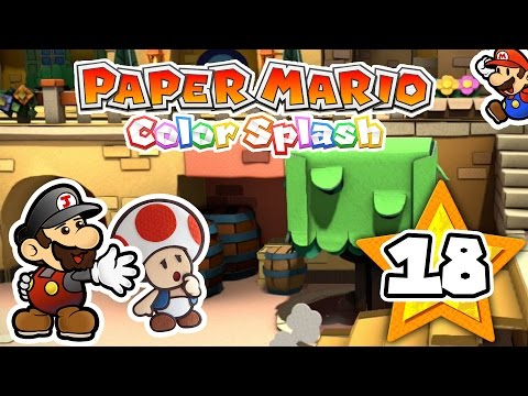 Hasta el carton se arruga.. | Paper Mario Color Splash (WiiU