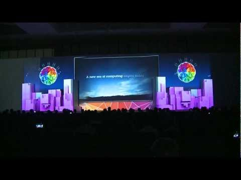 Stage 3D Video Mapping, Opening - IBM Conference &