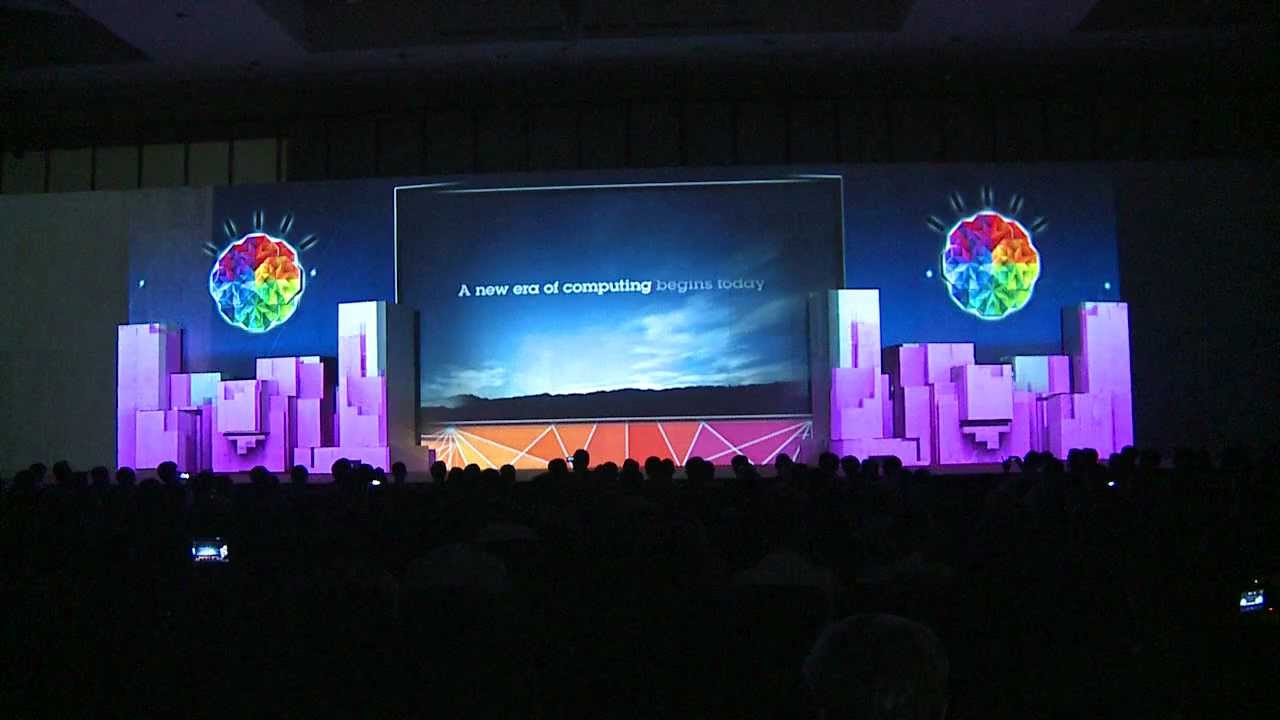 Stage 3d Video Mapping Opening Ibm Conference Amp Youtube