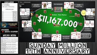 [SUNDAY MILLION] 11th Anniversary $11M+ (Cards Up) - 2017 April 2 - Final Table Replay