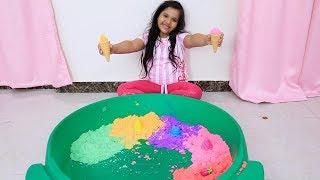 تعليم الاطفال اللغة الانجليزية - اغنية الحروف الانجليزية للاطفال العاب اطفال تعليمية icecream sand