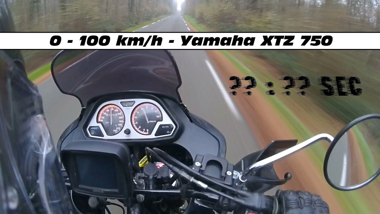 0 100 km h yamaha xtz 750 super tenere youtube. Black Bedroom Furniture Sets. Home Design Ideas
