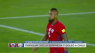Chile vs Paraguay (0-3) Eliminatorias Sudamericanas Rusia 2018 Fecha 15
