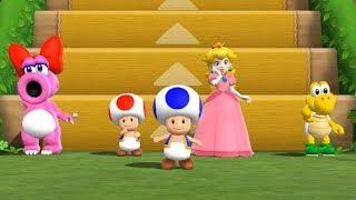 Mario Party 9 - Step it Up - Birdo vs Toad vs Peach vs Koopa
