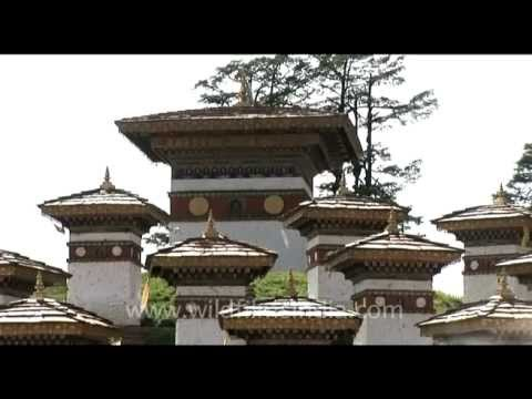 Dochula pass above Thimphu, en route central Bhutan...