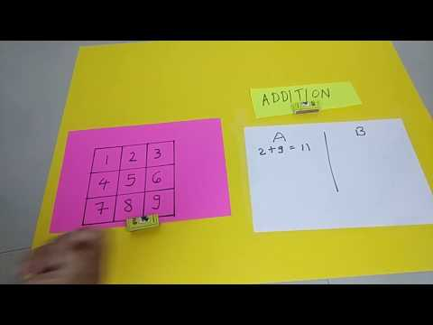 #mathsgame | Maths Project For Class |Fractions| Decimals| Integers| One Digit Addition