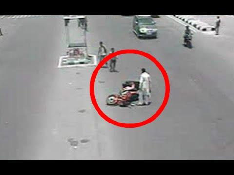 Ghost Caught On Tape Car Crash