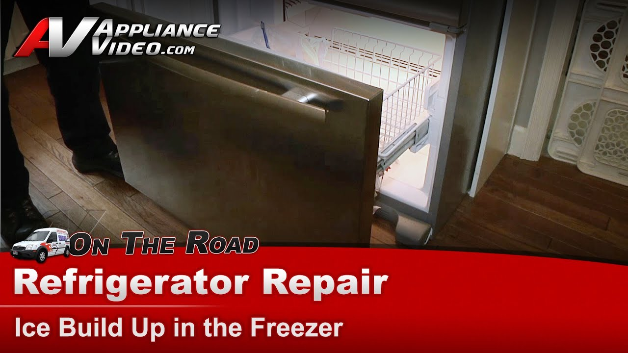 Refrigerator Repair - Ice build up in the freezer Jenn-Air,Whirlpool,  Maytag,Roper - JFC2089WEM3