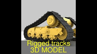 3D Model of Rigged tracks Review