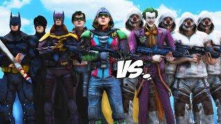 TEAM BATMAN VS TEAM JOKER - EPIC BATTLE