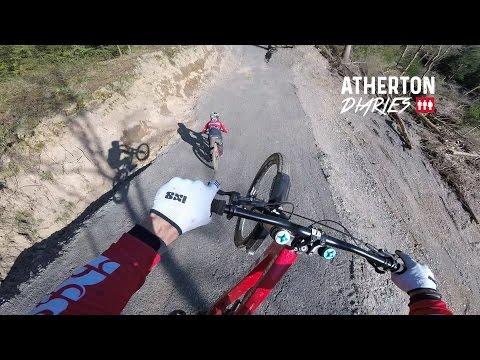 Atherton Diaries: Muddy, San Remo testing,  Dyfi Bike Park, loads of jumps and The BDS at Nant G