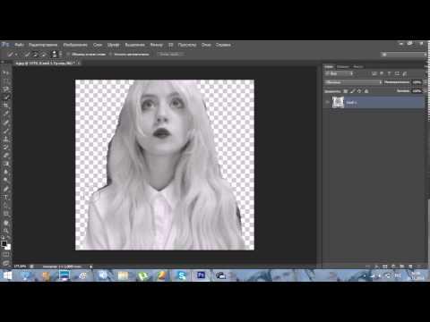 Урок #1. Adobe Photoshop CS6. Как вырезать девушку.