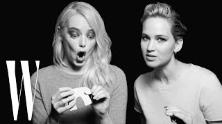 Jennifer Lawrence and Emma Stone Have a Lot in Common | Screen Tests | W Magazine YouTube Videos