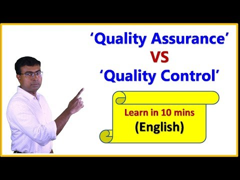 'Quality Assurance' VS 'Quality Control'- (English) - 9 Category of diffrence explained