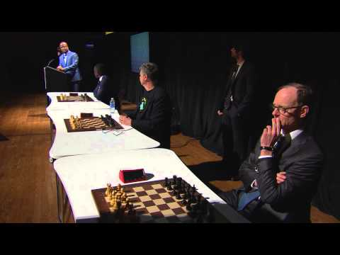 Chess Champion Magnus Carlsen Defeats Three