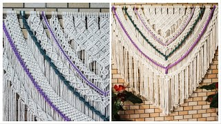 Diy Macramé Large Wall Hanging Tutorial By Tnartncrafts