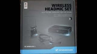 Sennheiser XSW 1-ME3 Wireless Headset Demo And Review