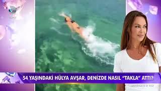 54 Yaşındaki Hülya Avşar Denizde Nasıl Takla Attı