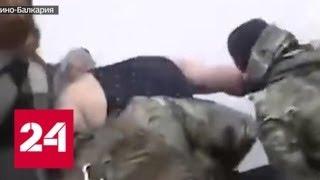 В Интернете появилось видео, как безрукий инвалид душил стража порядка - Россия 24