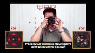 Canon T6s - T6i Training Tutorial | Focusing System